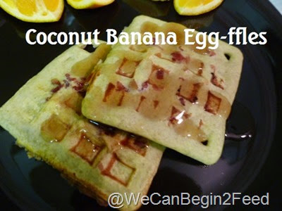 Coconut Banana Egg-ffles