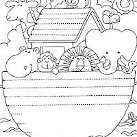 El Arca De Noe Dibujos Infantiles Para Colorear