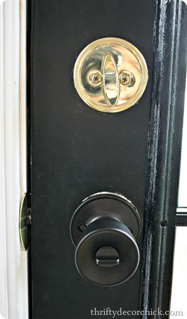 Interior door knob spray paint tutorial