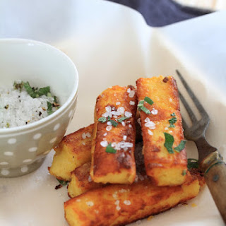 Crispy Polenta Fries With Ricotta, And Sage Salt.