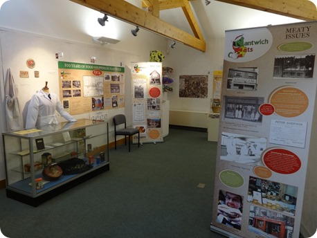 A section of the Nantwich Eats exhibition