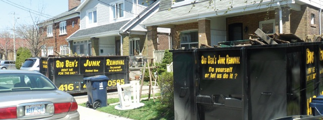 2 Bins on a residential street in Toronto