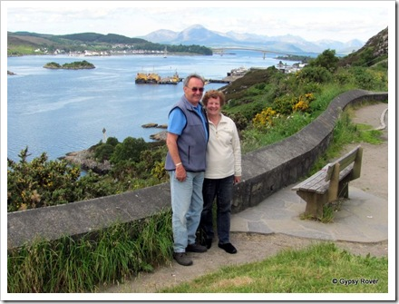With lochalsh and the Skye Bridge in the background taken by a  German tourist.