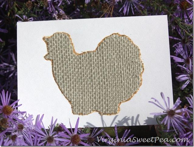 Burlap Turkey Card in Asters