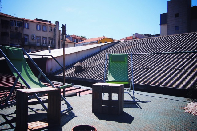 sunning area