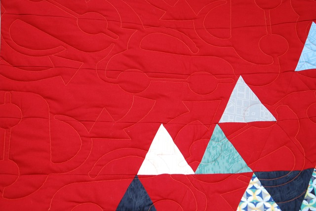 Evelynes Quilt Detail Quilting