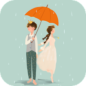 Rainy Romance Live Wallpaper
