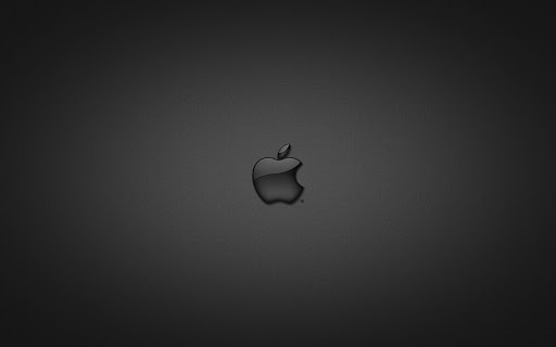 Apple in Black Glass