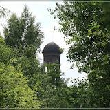 Wasserturm von weitem zu sehen