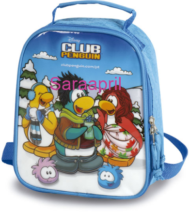 Club Penguin Blue Soft Lunch Bag 23x21x12 cm :)