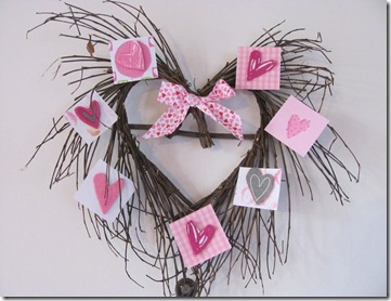 DIY twig heart wreath