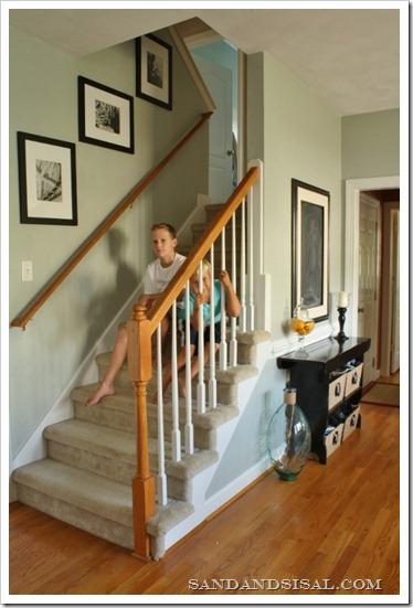 Comfort gray staircase