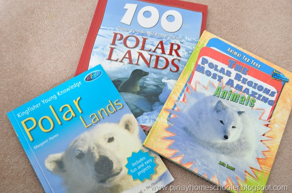 Books used in our Polar Regions Study