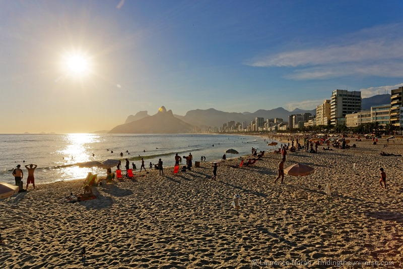 ipanema beach sunset rio brazil
