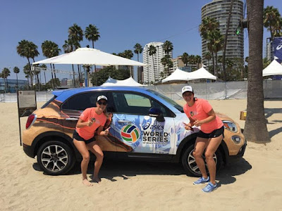 Who got to test drive the FIAT USAs at the ASICS WSOBV