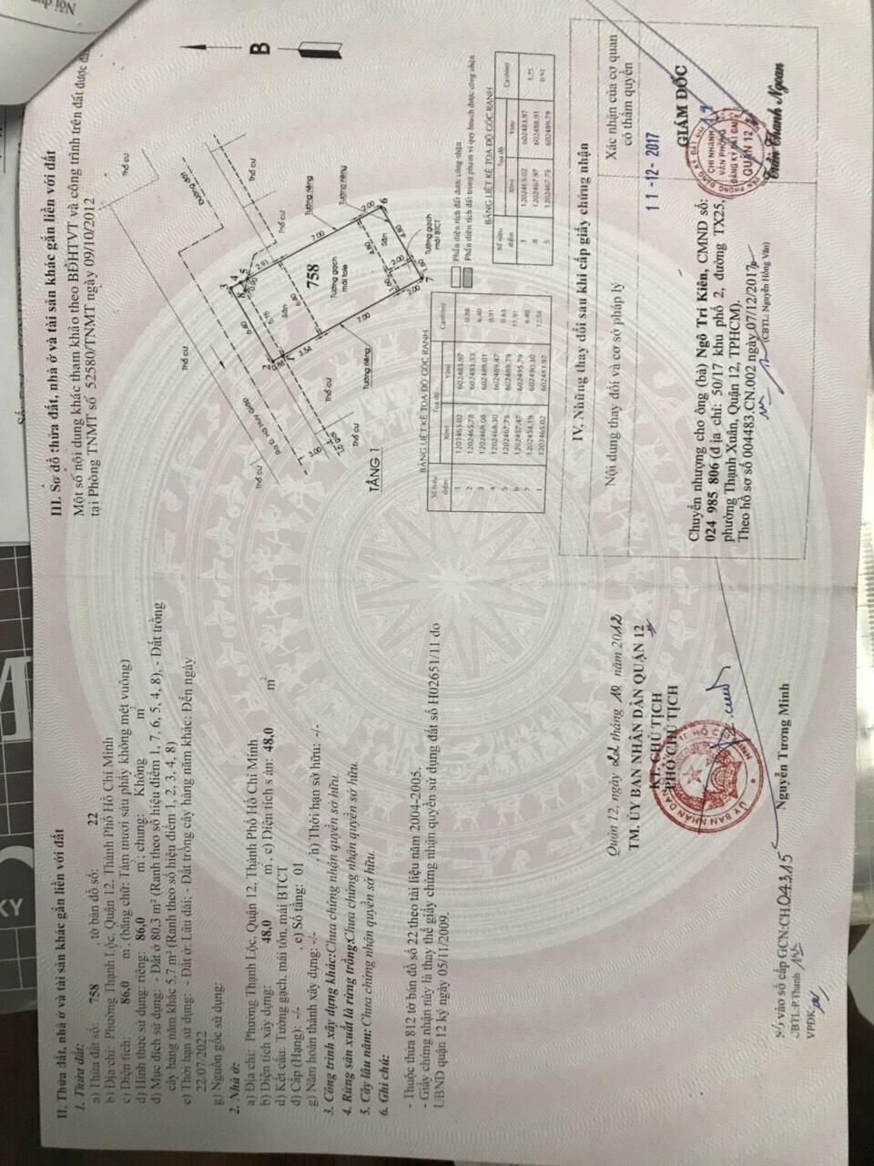 Nhà phố hẻm một sẹc Thạnh Lộc 29 Quận 12 - 015