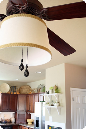drum shade ceiling fan