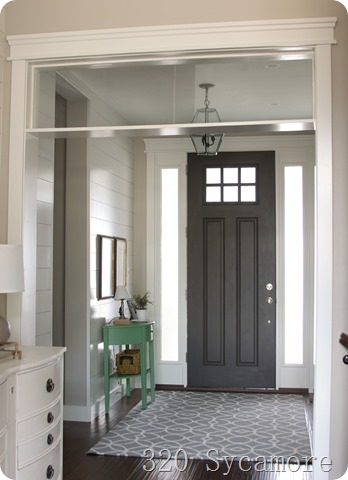 entryway 320 sycamore - door is sw urbane bronze