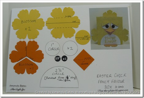 Amanda Bates, The Craft Spa, Easter Chick Fancy Favor Box 001 Pictorial