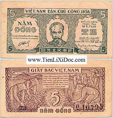 5 Đồng Cụ Hồ 1948(5 đồng Mỹ Tho)