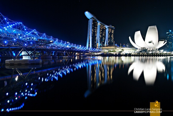 The Helix Bridge at Singapore's Marina Bay
