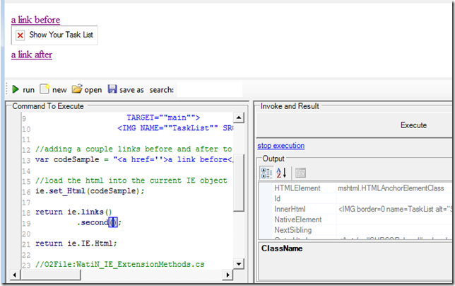 Dinis Cruz Blog: Finding a html link with no ID in the
