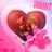 GO Launcher EX Valentine Heart logo