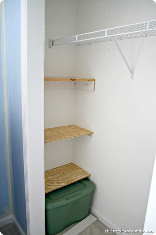 building shelves in closet