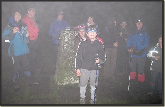 At Shutlingsloe's summit - 18/12/12 - L to R: Sue, Alistair, Big Andrew, Kate, Diana, Little Andrew, Hazel, Alastair, Graham, Joe
