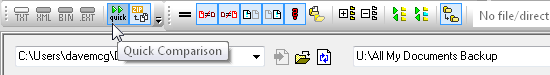 DiffDog Quick Comparison toolbar button