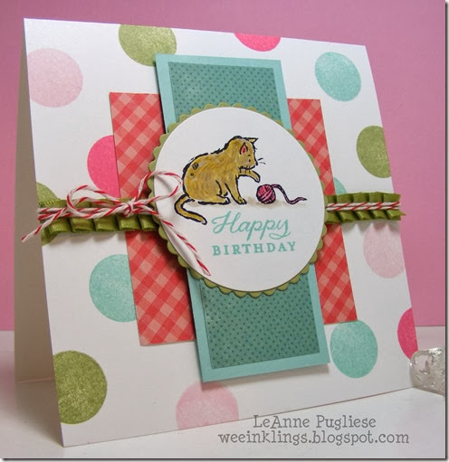 LeAnne Pugliese WeeInklings Mojo Monday 321 Birthday Card Stampin Up