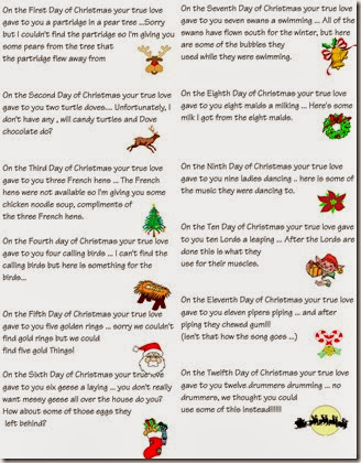 12 Days of Christmas webb versi