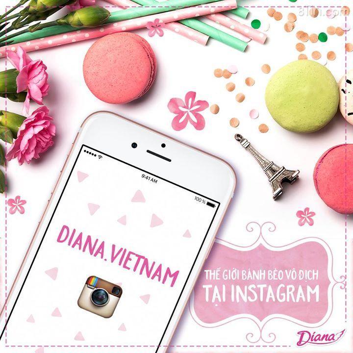 Các #bánhbèovôđịch đã vào instagram của Diana để cập nhật tất cả
