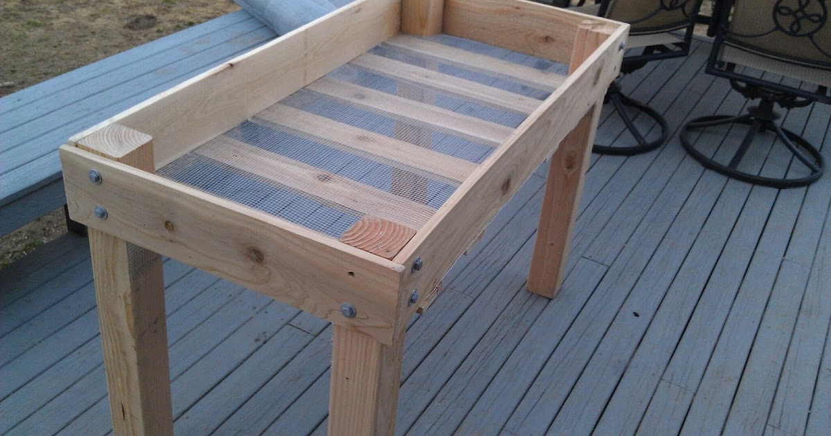 Rhody Life Diy Raised Bed Planter, How Do You Make An Elevated Garden Bed With Legs