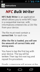 NFC Bulk Writer screenshot 2