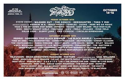 PHASE THREE DAILY LINEUPS and SINGLE DAY TICKETS are here for ��DesertDaze2016�