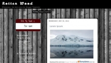 Rotten wood blogger template 225x128