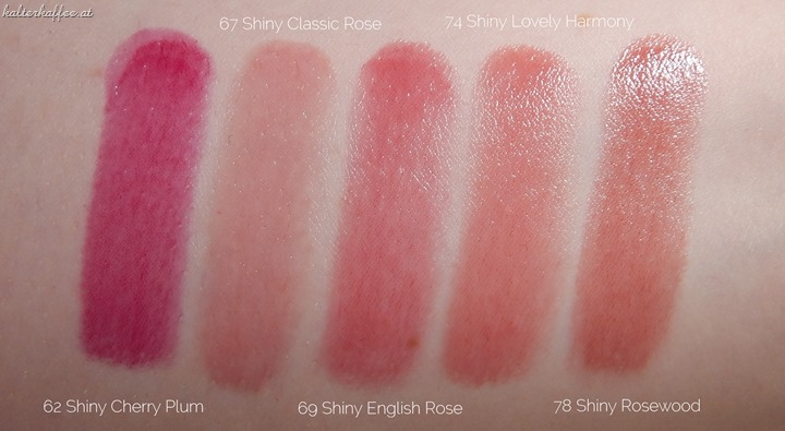 Artdeco Color Lip Shine Lipsticks Swatches