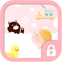 Bubble shower protector theme icon
