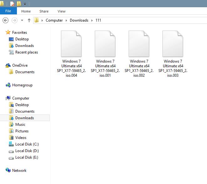 Sau khi tải thu được 4 file windows