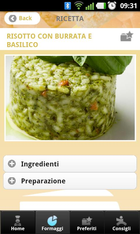 Formaggi- screenshot