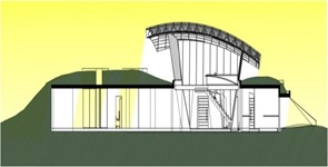 Plano seccion Dos casas en Luque por BAUEN
