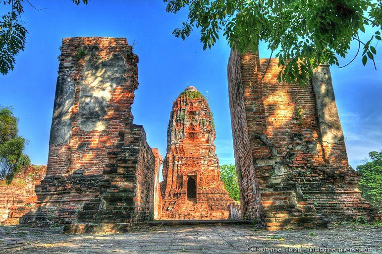 Wat Mahathat Ruinen Tempel Ayutthaya Thailand 2