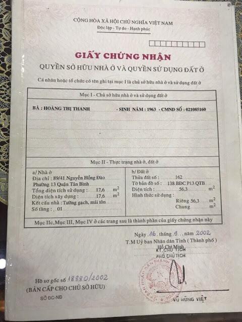 Bán nhà Mặt Tiền Kinh Doanh Nguyễn Hồng Đào Quận Tân Bình 05