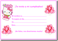invitación hello Kitty blogcolorear
