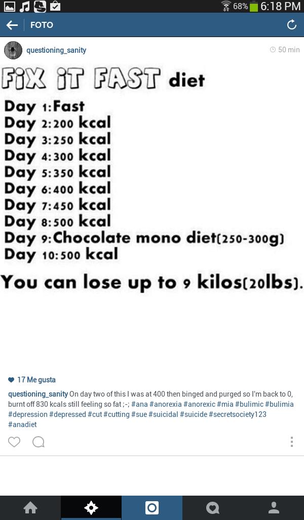 Dieta de los 4 dias ana y mia
