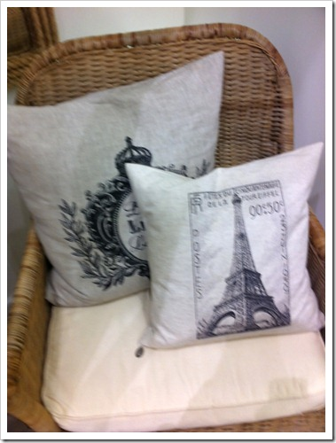 French print pillows