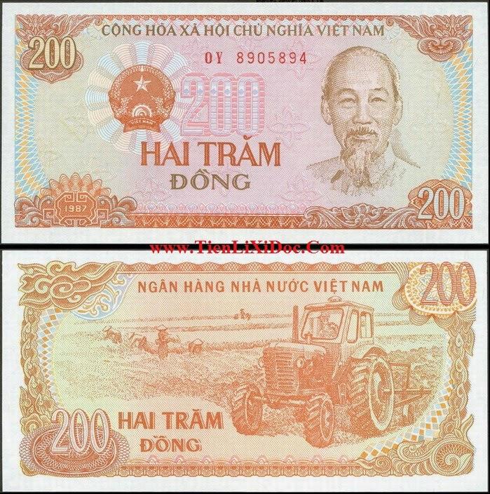 200 đồng Việt Nam 1987