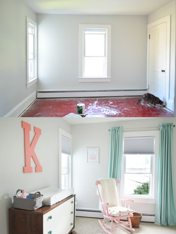 nursery carpet before and after