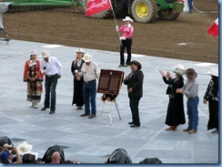 9568 Alberta Calgary Stampede 100th Anniversary - GMC Rangeland  Derby & Grandstand Show -  Parks Canada plaque designating Stampede as a national historic event